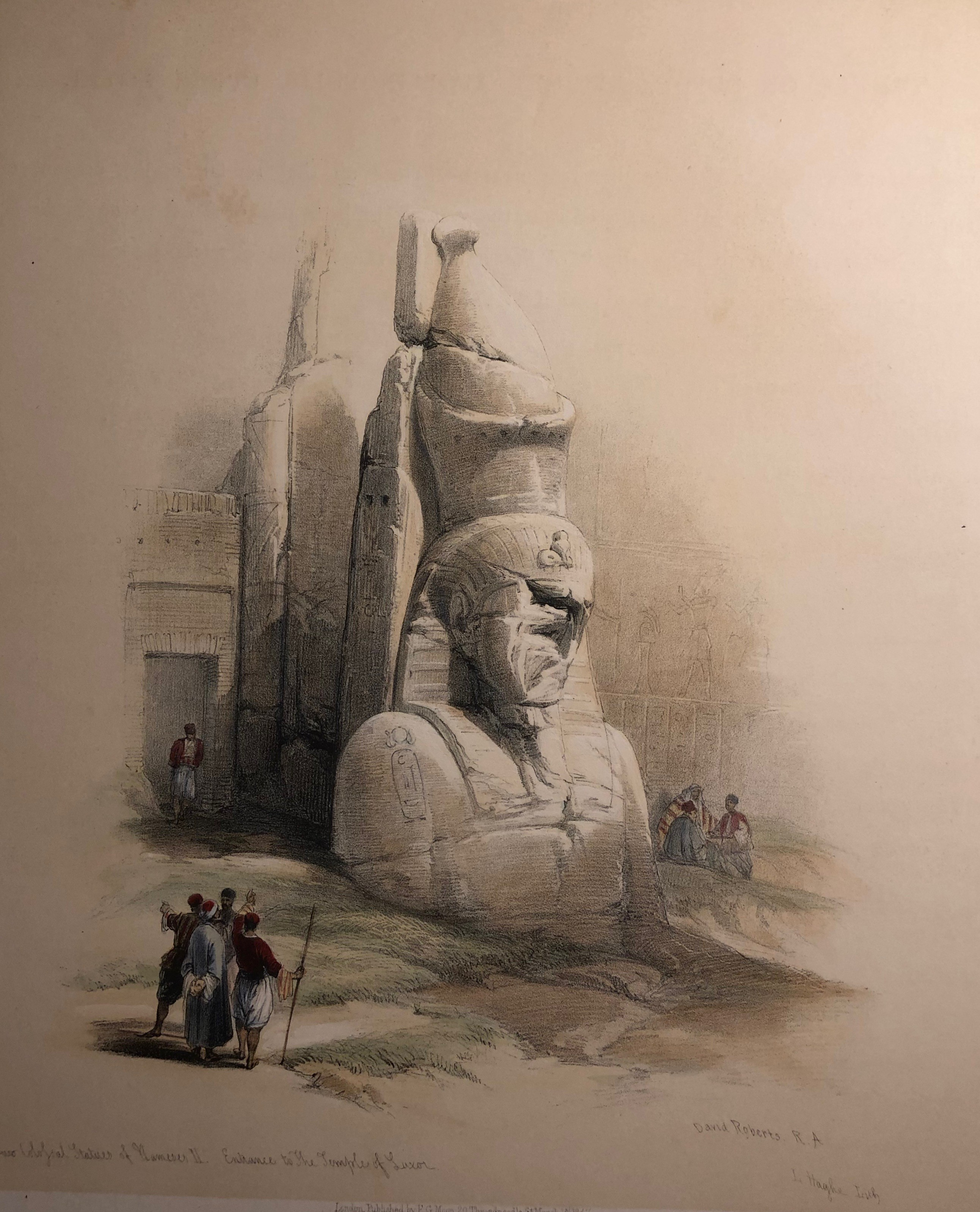 A Colossal Statue at the Entrance to the Temple of Luxor